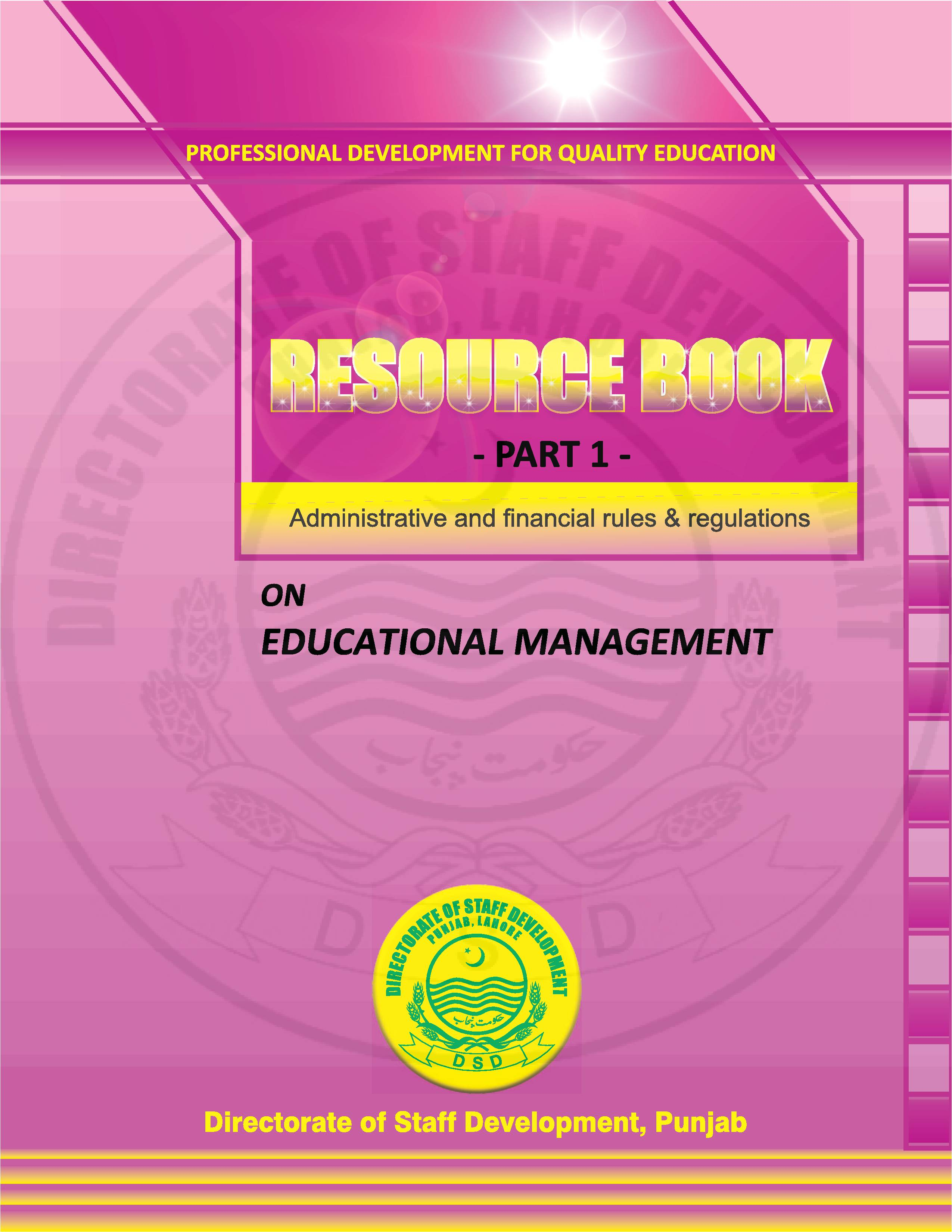 The Resource Book Cover Page